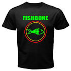 New Fishbone American Rock Band Men's White Black T-Shirt Size S to 3XL