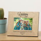 Wedding Wood Wooden Picture Photo Frame 7x5 Personalised Engraved Gift Present