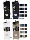 6 Mens Plain Lycra® Cotton Rich Elastic Top Socks / Big Foot / UK 11-14