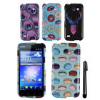 For Huawei Tribute 4G LTE Y536A1 PATTERN HARD Protector Case Phone Cover + Pen