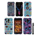 For Kyocera Hydro Icon C6730 Hydro Life C6530 PATTERN HARD Case Cover + Pen