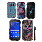 For Samsung Galaxy Ace Style S765C Stardust S766C PATTERN HARD Case Cover + Pen