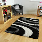 Small Large Cheap Easy Clean Black Modern Rug New Thick Soft Touch Shaggy Rugs