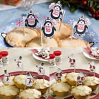 Christmas Mice Pie Picks / Sticks / Cupcake Flags Penguin,Snowman or Santa