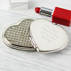 Personalised Engraved Compact Mirrors - Round, Oval, Handbag, Diamante Heart