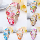 Fashion Geneva Womens Watches Flower Leather Analog Quartz Vogue WristWatch GOOD