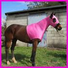 LOVE MY HORSE Lycra Skinny Hood Show Clean Mane Plait Protection Pink