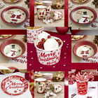 Quality Christmas Party Tableware Paperware, Plates, Bowls, Cups. Ice Cream Tubs