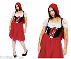 Zombie Bloody RED RIDING HOOD Halloween Ladies Fancy Dress L - XXL