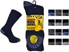 3 Mens ERBRO® Work-Wear Cotton Rich Ultimate Boot Socks / UK 6-11