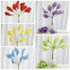 42 Silk Calla Lily Flowers - 6 bushes Artificial Flowers Wedding Party Bouquets