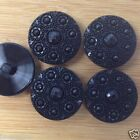 per 2 buttons retro patterned black coat buttons 16mm 20mm & 28mm