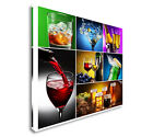 Collage of Alcoholic Drinks Canvas art, Great Value sq