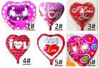 LOVE HEART 18 INCH HEART BALLOONS VALENTINES WEDDINGS ANNIVERSARY PARTY