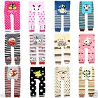 4 PAIRS  Cotton Leggings Bottom Tight Pants for Baby Toddler Boys Girl 6-36Month