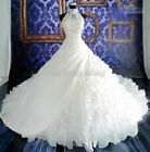 2015 Vintage White/Ivory Halter Bridal Gown,Ball Gown Wedding Dress Size:2-28