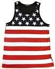 USA FLAG Tank Top T-shirt KONFLIC Stars Stripes Old Glory Vest Adult Men New