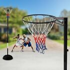 NEW Outdoor Play Sturdy Netball Ring w/ Stand - Height Adjustable Portable Pole