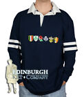 LONG SLEEVE COTTON RUGBY SHIRT - 6 NATIONS DESIGN  - SIZE OPTIONS!