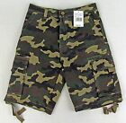 Mens Military Combat Cargo Shorts Pants Army Green Camouflage Adult sizes NWT