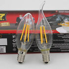 Dimmable,2W 4W 6W,LED Filament Candle Bulb,110V-130V,E12,Retro Lamp,Chandelier