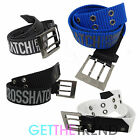 Crosshatch Designer Mens Canvas Branded Metal Buckle Jeans Belt Belts S-XL