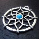 Dreamcatcher Wholesale Silver Turquoise Resin Charm Pendants C9771 - 2, 5, 10PCs