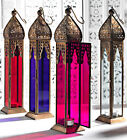 TALL COLOUR MOROCCAN LANTERN / LAMP / GARDEN LIGHTING / TEELITE CANDLE HOLDER
