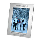 Silver Plated Photo Picture Frame 7x5 Personalised Engraved Silverplated