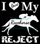 OTTB Love My Racehorse Reject TB Horse Decal CHOOSE COLOR