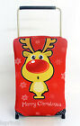 CARTOON RED RUDOLPH DESIGN CASESKINZ SUITCASE COVER *SUITCASE NOT INCLUDED*