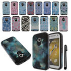 For Motorola Moto E LTE 2nd Gen 2015 Anti Shock HYBRID Case Phone Cover + Pen