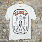REBEL8 H.W.T.C. Casual T-Shirt New -White - Size:S,