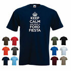 'Keep Calm and Drive a Ford Fiesta' Funny Car Birthday Gift t-shirt Tee