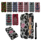 For Kyocera Hydro Icon C6730 Hydro Life C6530 DIAMOND HARD Case Cover + Pen
