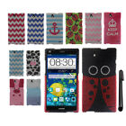 For ZTE Grand X Max Z787 Max+ Z987 DIAMOND BLING HARD Case Phone Cover + Pen
