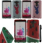 For LG G3 mini Vigor D725 DIAMOND BLING CRYSTAL HARD Case Phone Cover + Pen