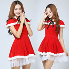 New Women Red Santa Claus Christmas clothes Costume Party Sexy Personality Dress