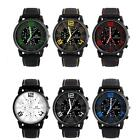 Men Round Case Fashion Motion Racing Form Sport Quartz Hour Wrist Analog Watch