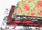 Chinese style retro birds flora silk satin curtain cushion cover decoration suit