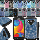For Samsung Galaxy Avant G386T Anti Shock HYBRID Silicone HARD Case Cover + Pen