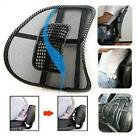 Cool Massage Cushion Vent Mesh Back Lumber Support Office Chair Car Seat Pad LA