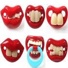 New Baby Red Funny 6 Different Style Lips Dummy Joke Prank Pacifier Soother LA