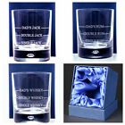 Personalised SINGLE/DOUBLE Measure Glass Gift For Christmas/Dad/Whisky/Rum/Jack