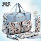 Antimicrobial Baby Nappy Diaper Changing Bag Mummy Tote Handbag Shoulder Bag