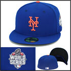 "New Era New York Mets Fitted Hat ""2015 World Series"" Side Patch MLB 59fifty"