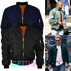 Mens MA1 Bomber Flight Jacket Mens Classic Padded Vintage Crew Pilot Coat Jacket
