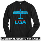 Fly New York LaGuardia LGA AIrport Long Sleeve T-shirt LS - NYC Jet Men / Youth $31.99 USD on eBay