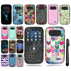 For ZTE Z432 New Colorful Design PATTERN HARD Case Phone Cover + Pen