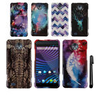 For ZTE Vital N9810 Supreme PATTERN HARD Protector Case Phone Cover + Pen